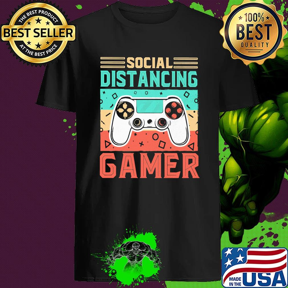 Social distancing gamer vintage shirt