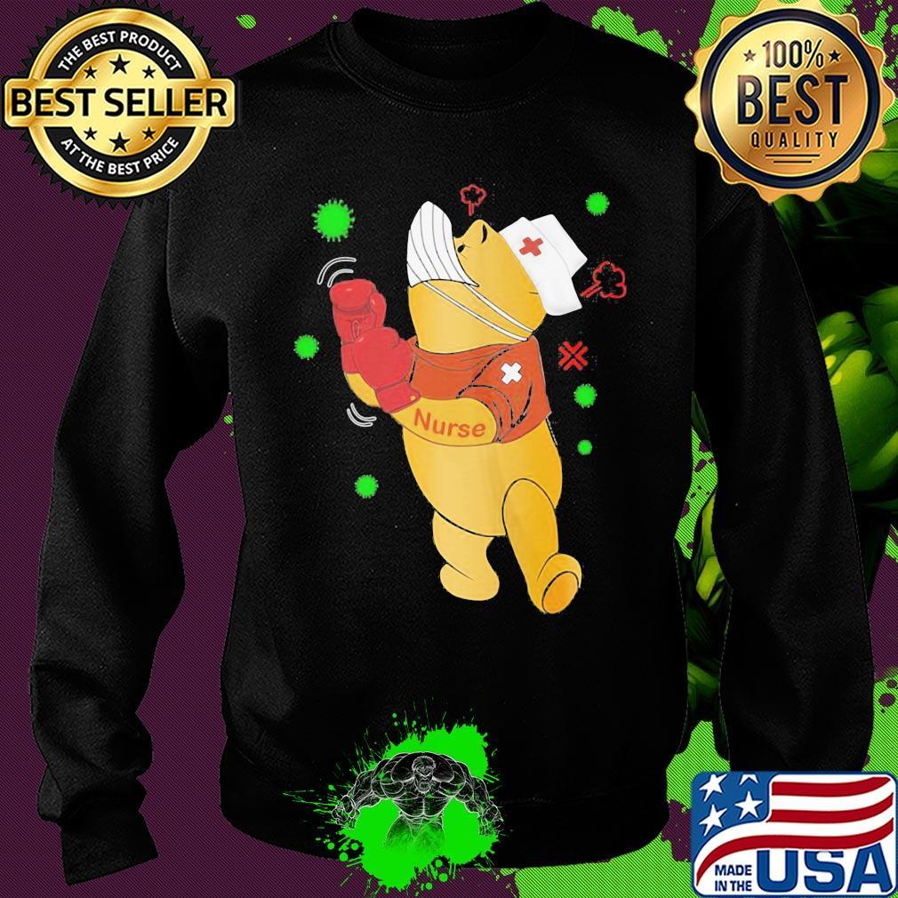 Strong Pooh bear nurse boxing Covid-19 s 17