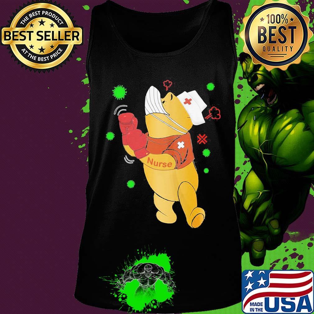 Strong Pooh bear nurse boxing Covid-19 s 18