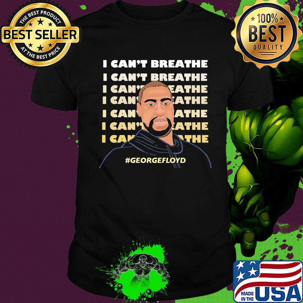 Justice George Floyd I Can/'t Breathe T-Shirt Tops Men Short Sleeve Casual Tee