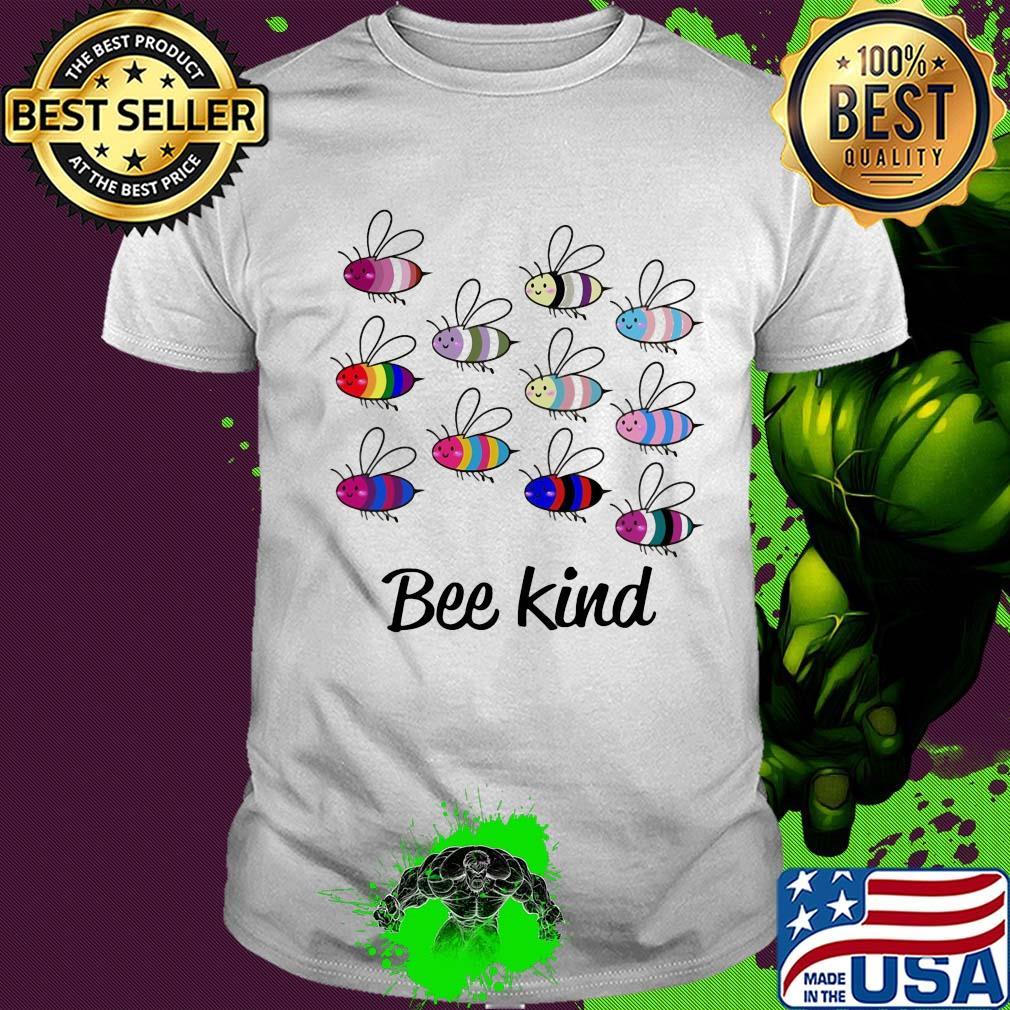 Be Bee Kind Kids Jersey Raglan T-Shirt Children 3//4 Sleeve Baseball Shirt Top
