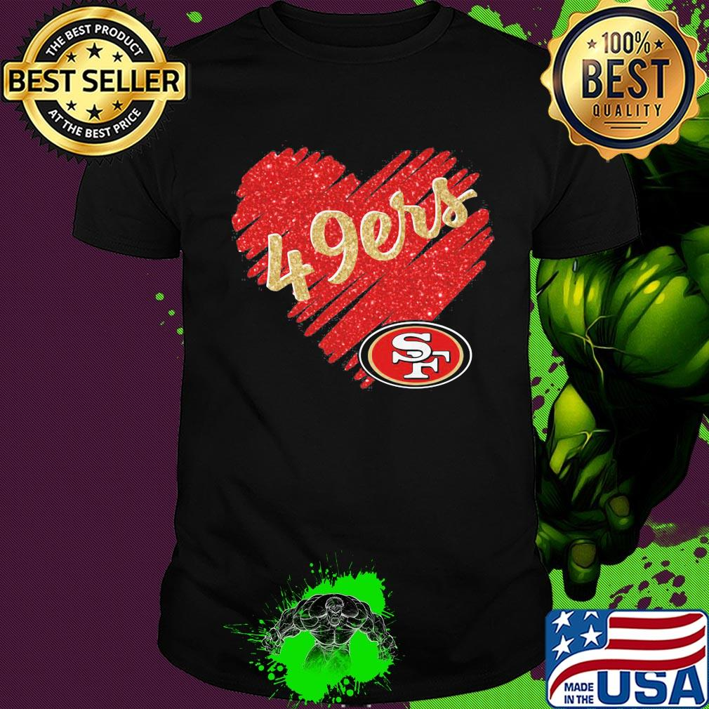 San Francisco 49ers Nfl Heart Shirt Hoodie Sweater Long Sleeve And Tank Top