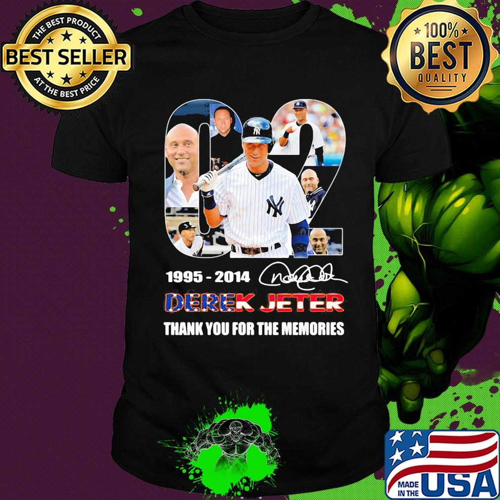 02 1995 2014 derek jeter thank you for the memories signature shirt