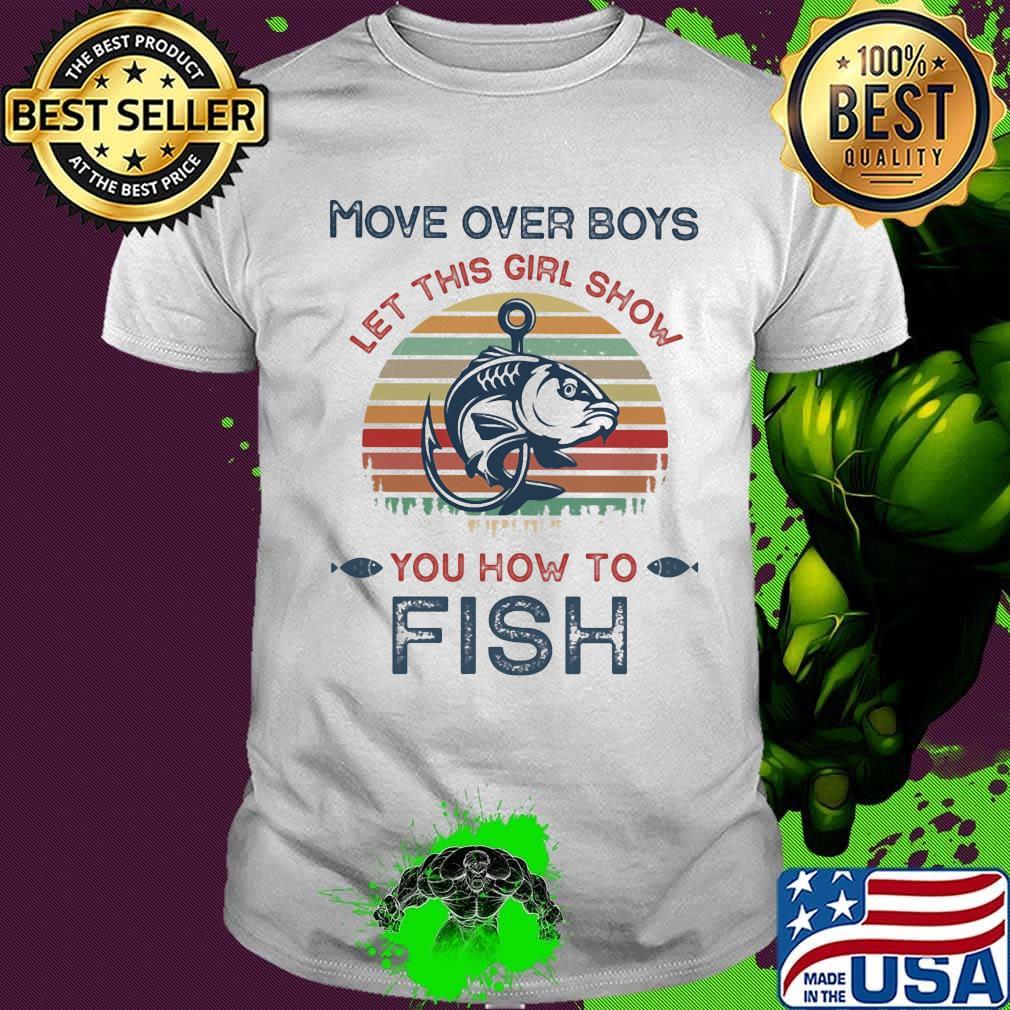 Fishing Shirt Unisex Girls Boys