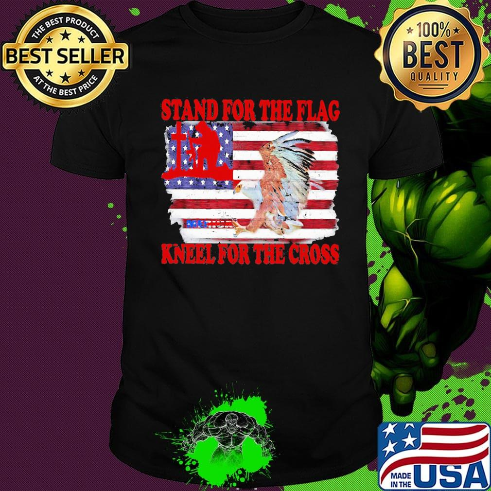 Stand for The Flag and Kneel for The Cross Infant Girls T-Shirts Short Sleeve