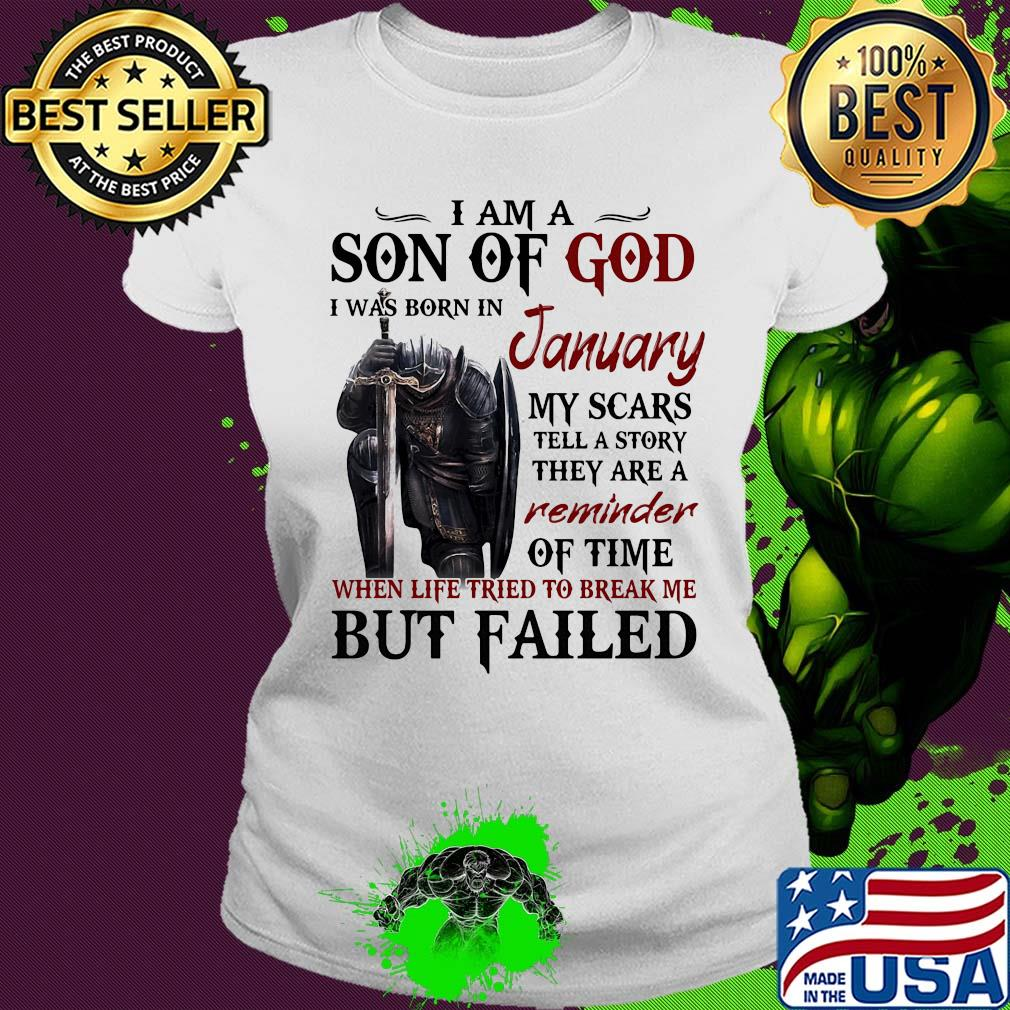 I Am A Son Of God Was Born In February My Scars Tell A Story T Shirt Knights Templar Lovers Tshirt Birthday Gifts