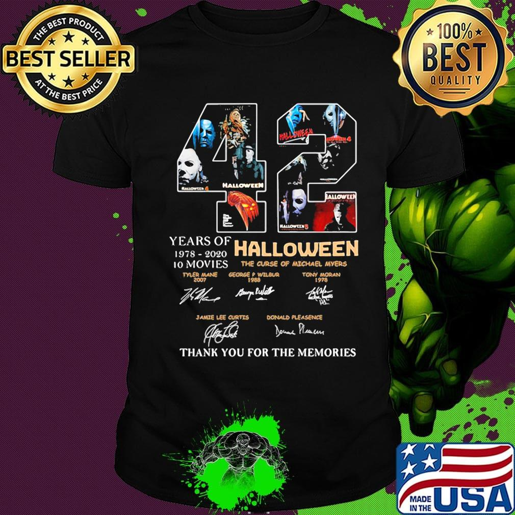 Halloween 2020 Shirts 42 years of 1978 2020 10 moves halloween thank you for the
