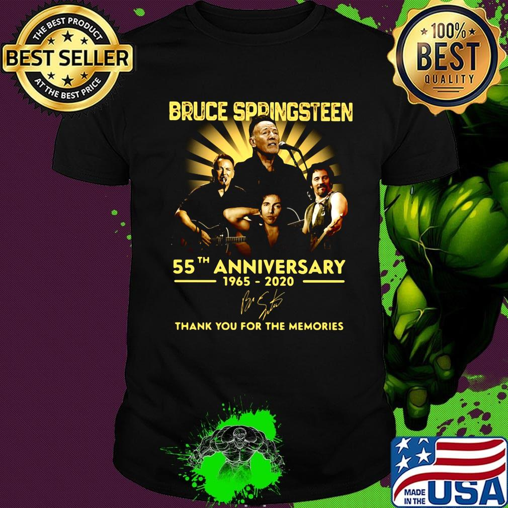 56 Years Of Bruce Springsteen Thank You For The Memories Signature shirt.