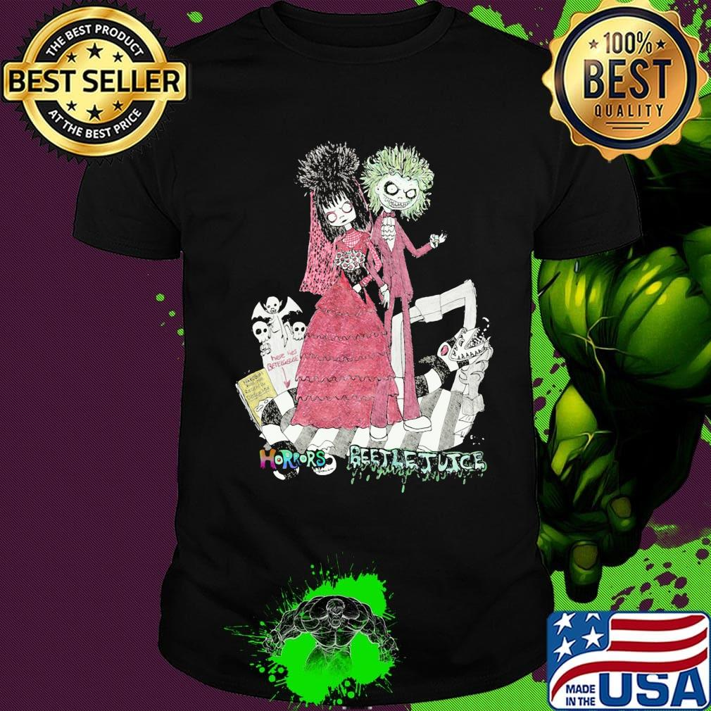 Halloween Beetlejuice Characters Horrors Cartoon Shirt Hoodie Sweater Long Sleeve And Tank Top
