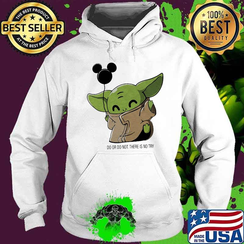 Baby yoda balloon mickey mouse do or do not there is no ...