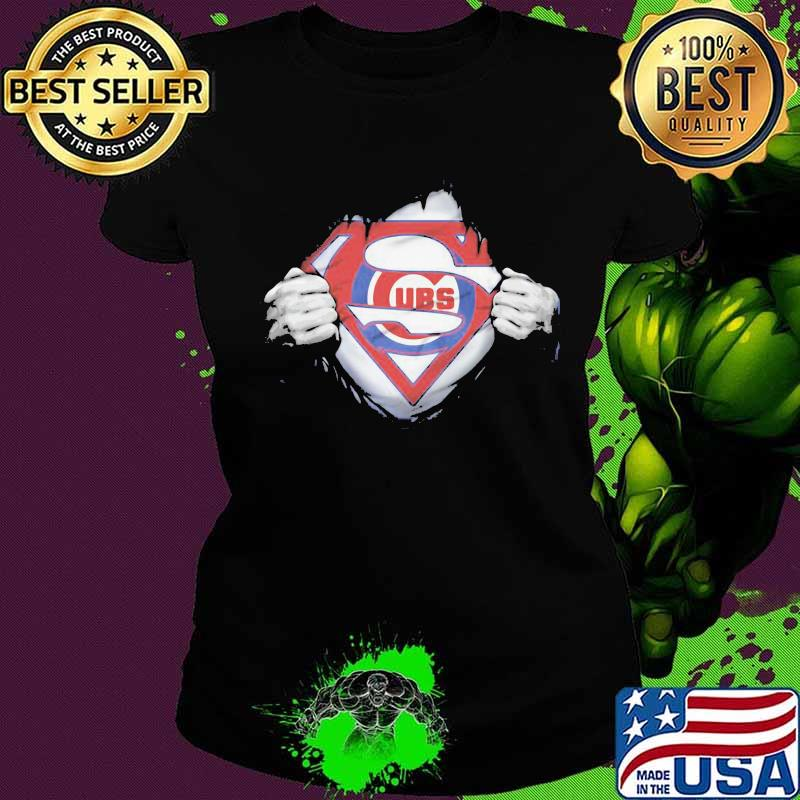 Blood Insides Superman Chicago Cubs Logo Shirt Hoodie Sweater Long Sleeve And Tank Top