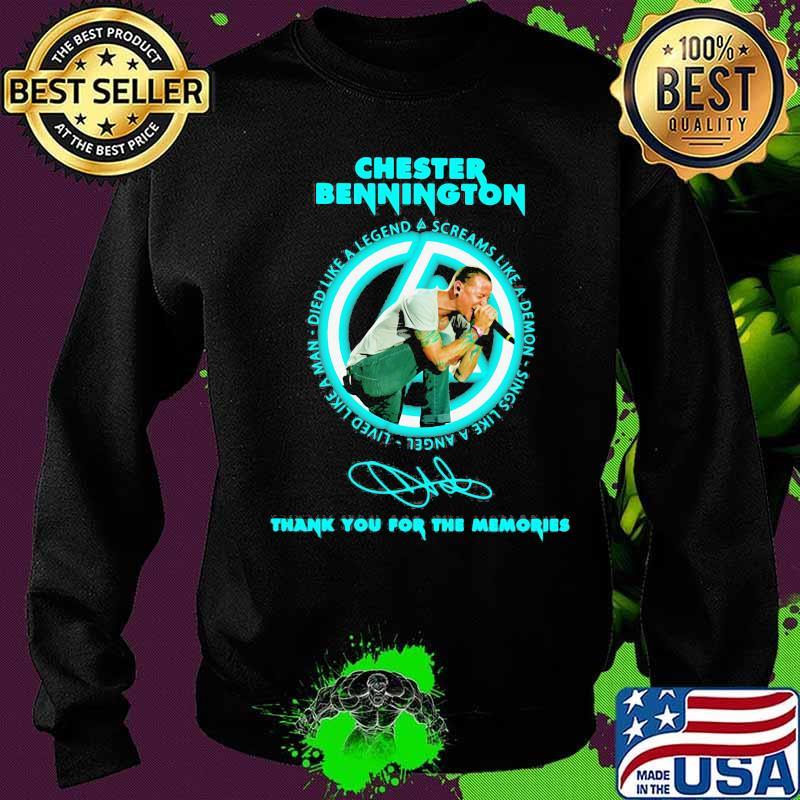 Tank top Sweater Sweatshirt Long Sleeve Chester Bennington Tattoo Tribute T-Shirt Hoodie for Everyone