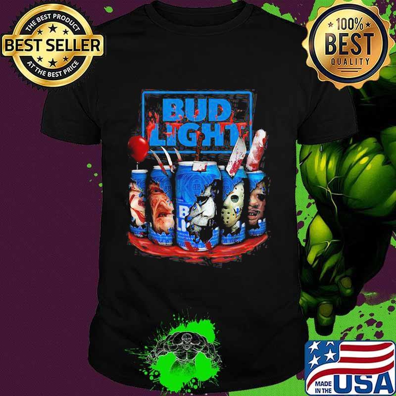 Budweiser Halloween 2020 Halloween horror characters bud light beer shirt, hoodie, sweater