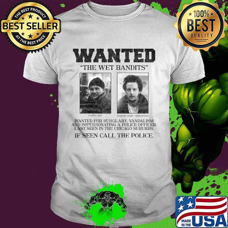 Home Alone Wanted The Wet Bandits Poster T-Shirt