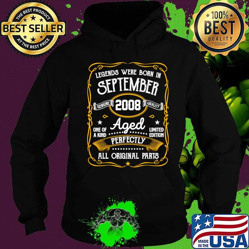 Legends Were Born In September 2008 12th Birthday Gifts T-Shirt Hoodie