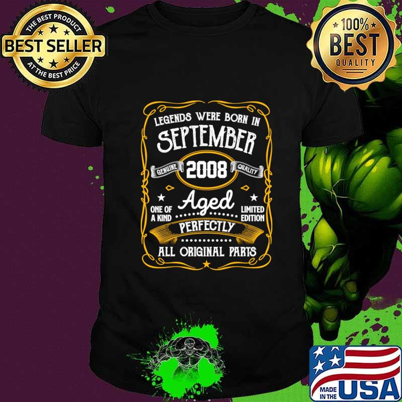Legends Were Born In September 2008 12th Birthday Gifts T-Shirt