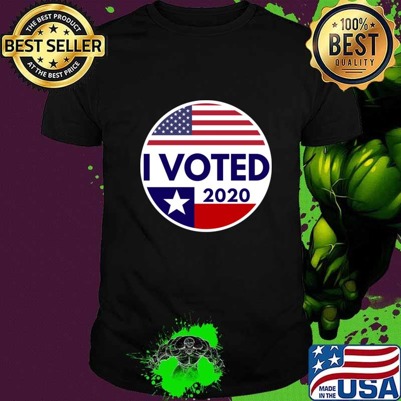 Texas flag i voted gift for voters T-Shirt