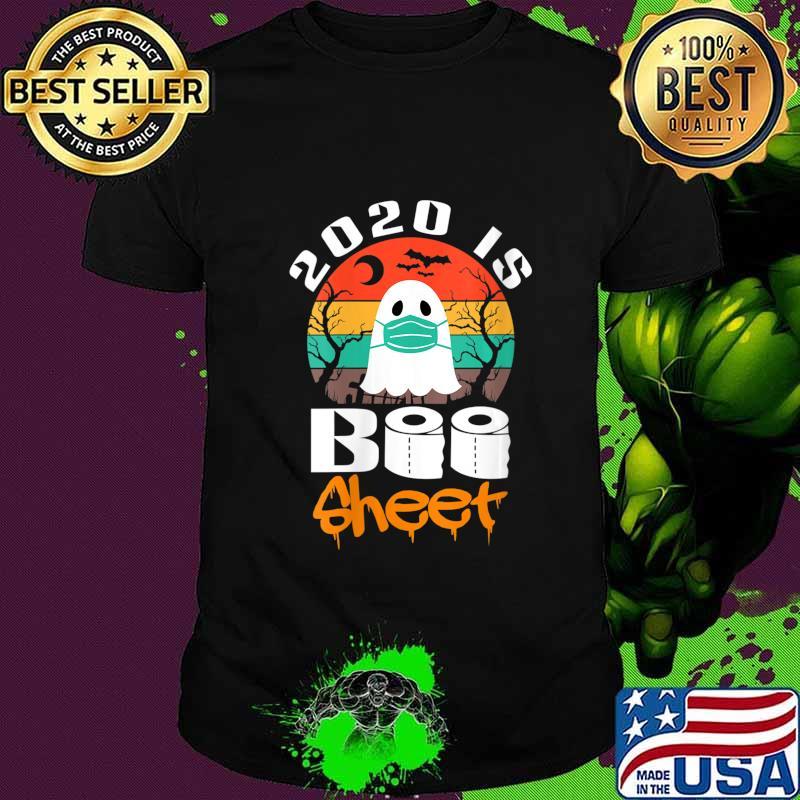 Halloween 2020 Womens Shirts Vintage Halloween 2020 Is Boo Sheet Gift for Men Women Shirt