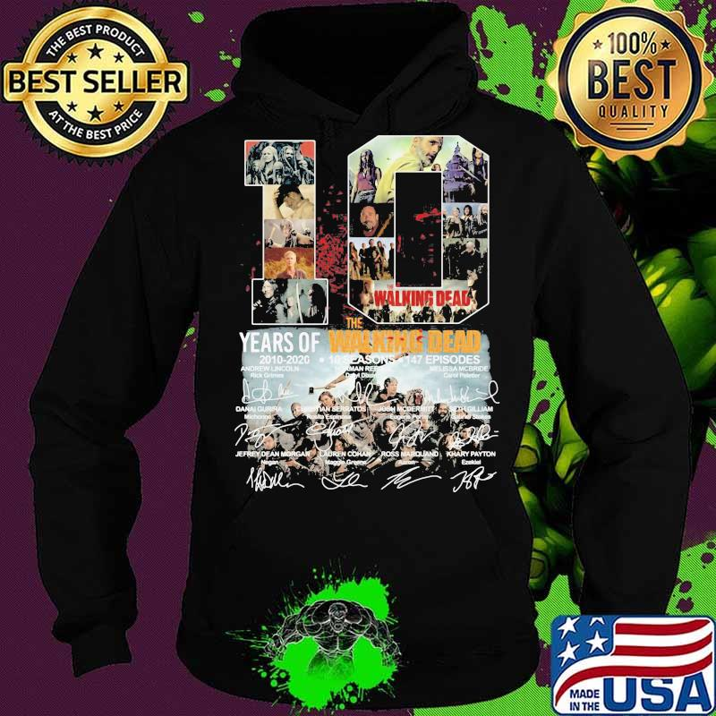 10 years of 2010 2020 the walking dead signatures s Hoodie