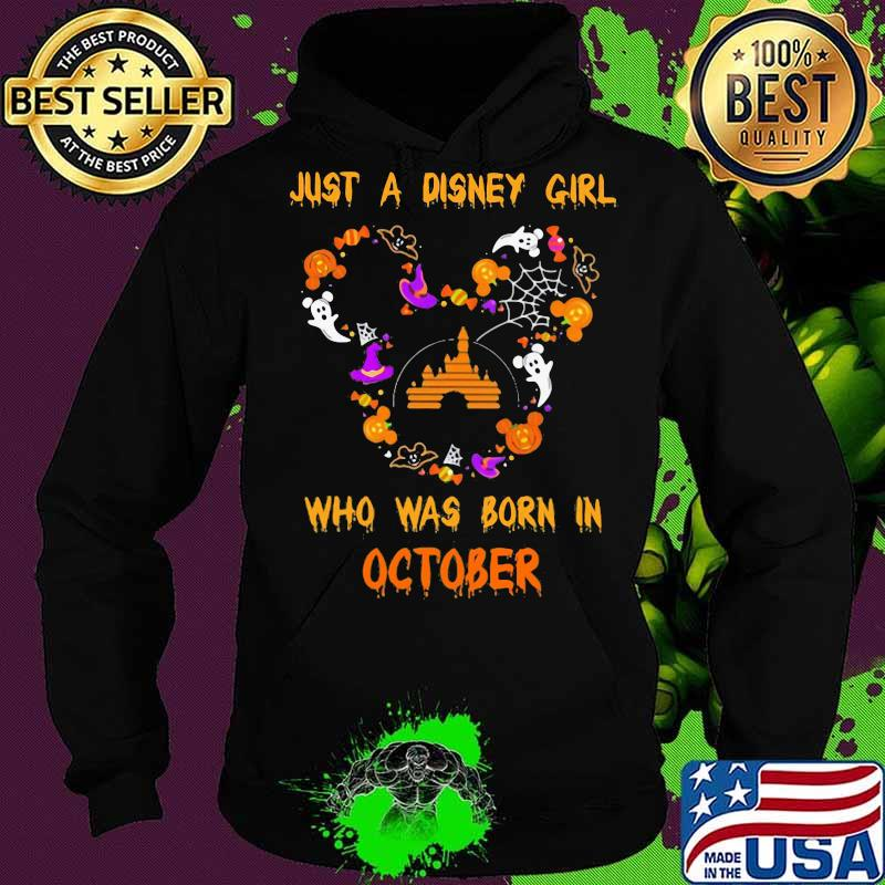 Halloween mickey mouse just a disney girl who was born in october s Hoodie