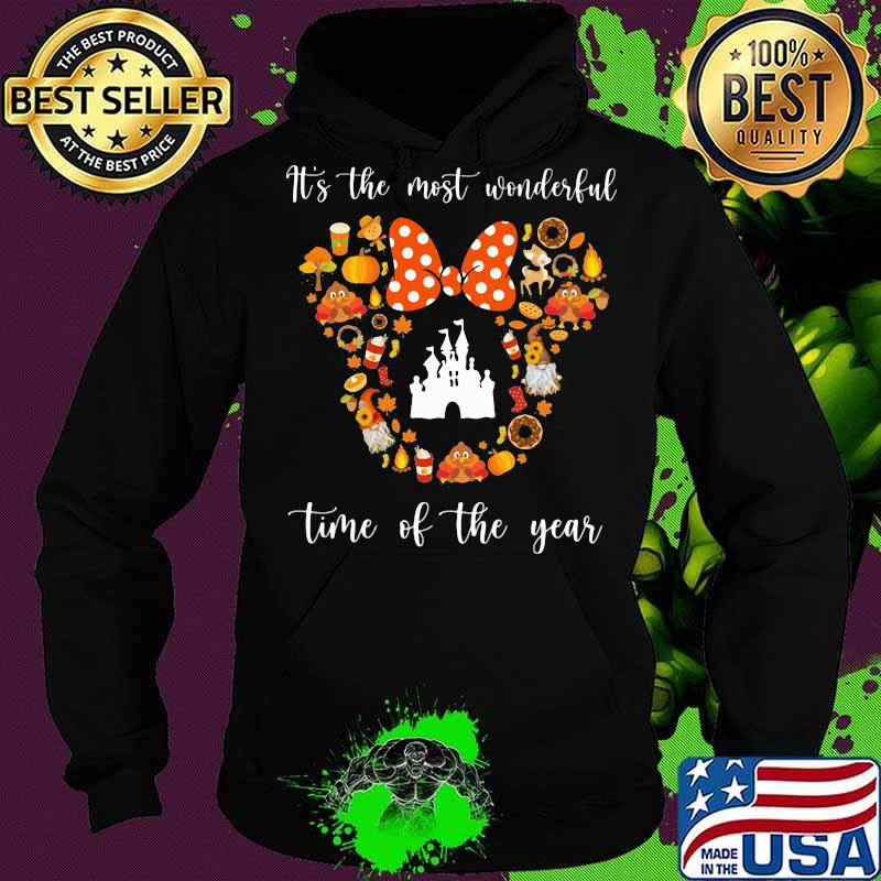 Minnie mouse it's the most wonderful time of the year fall s Hoodie