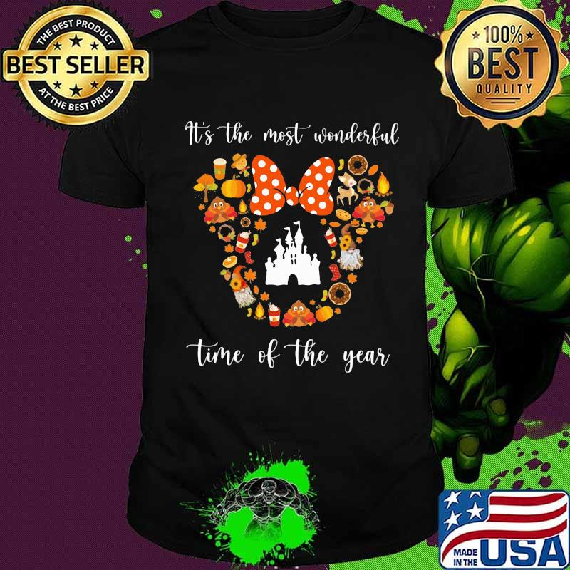 Minnie mouse it's the most wonderful time of the year fall shirt