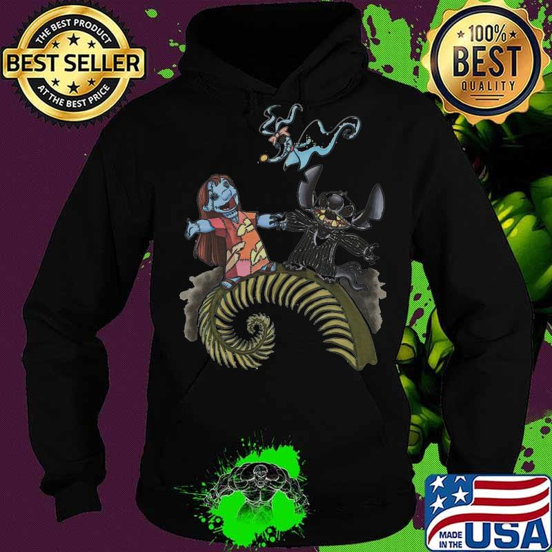 Nightmare stitch and lilo ghost halloween s Hoodie