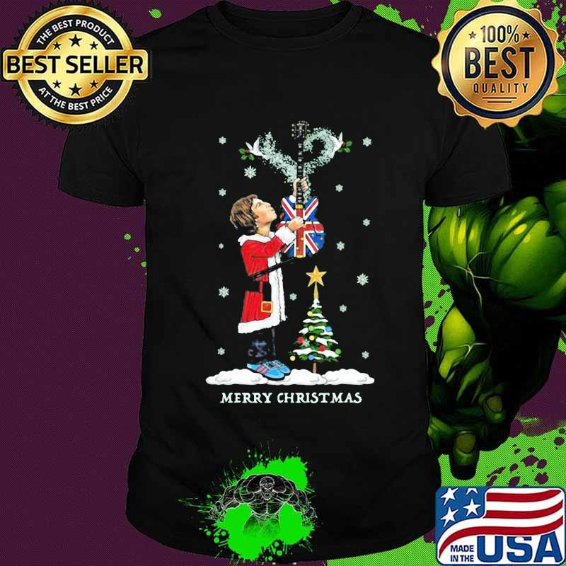 Noel gallagher playing guitar merry christmas shirt