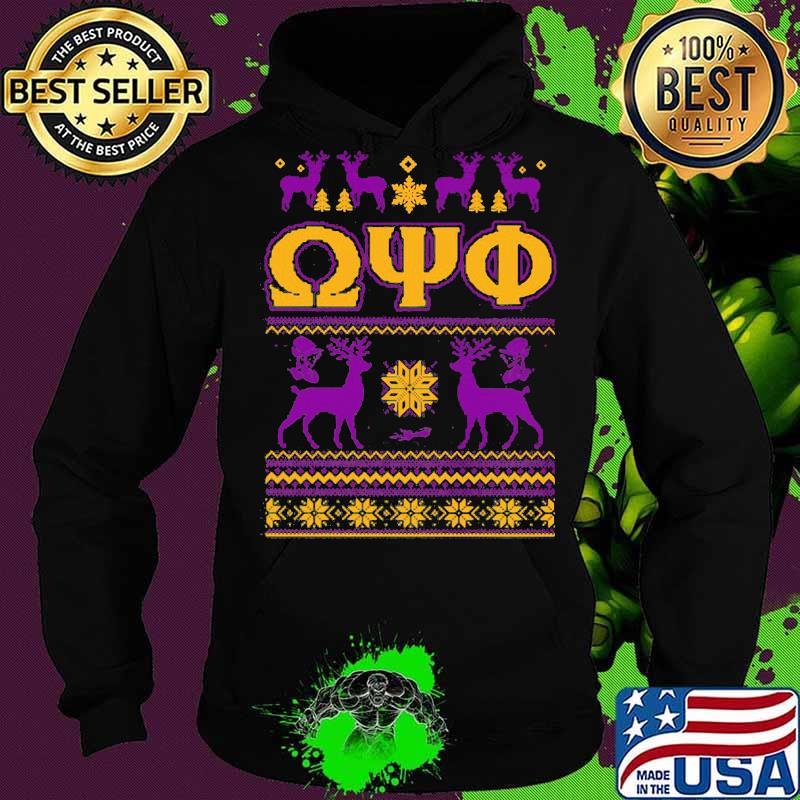 Omega psi phi deer ugly christmas s Hoodie