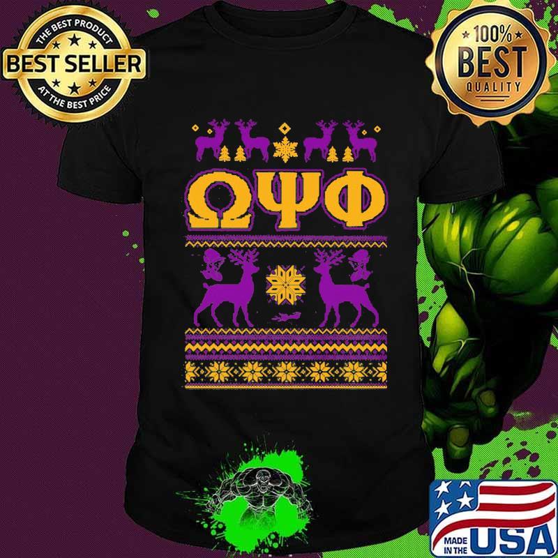 Omega psi phi deer ugly christmas shirt