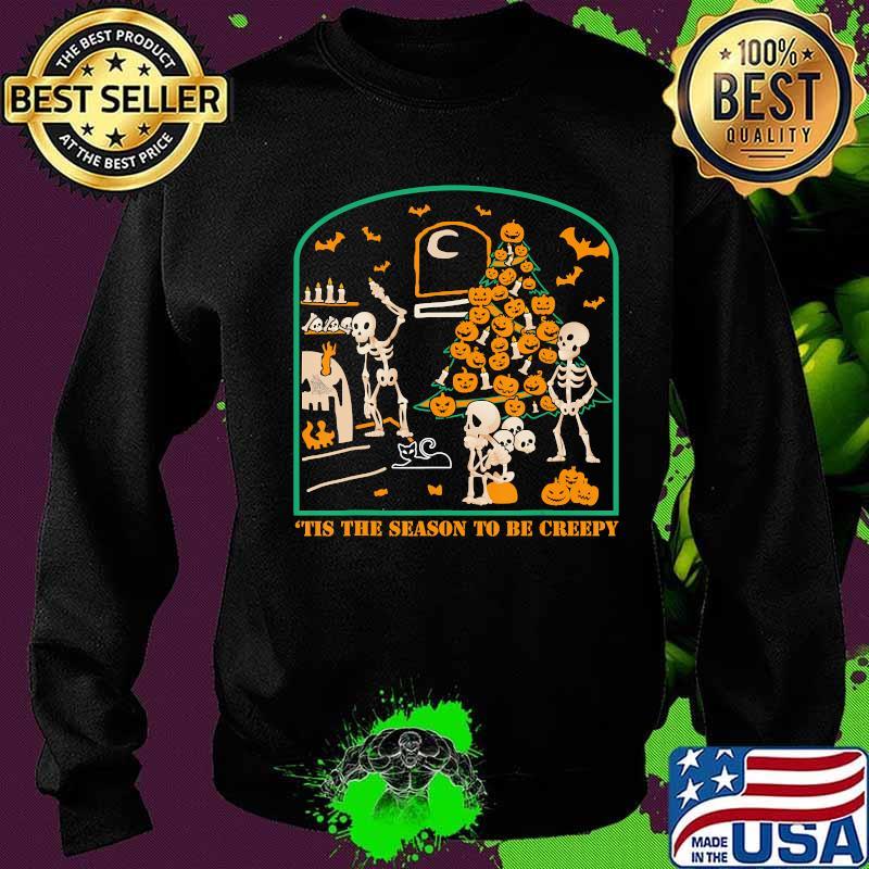 'Tis the season to be Creepy Halloween Skeleton Party T-Shirt Sweater