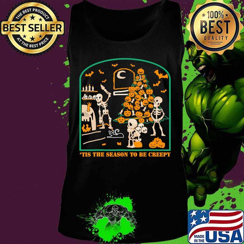 'Tis the season to be Creepy Halloween Skeleton Party T-Shirt Tank top