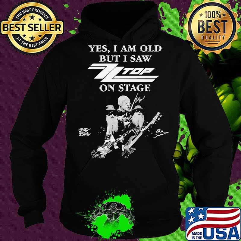 Yes i am old but i saw top band on stage signatures s Hoodie