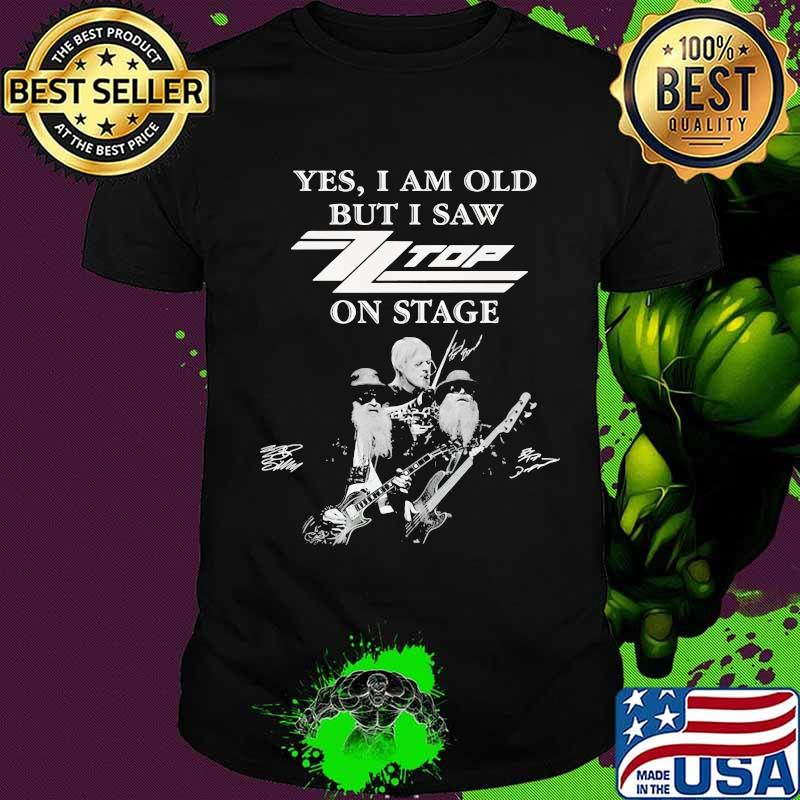 Yes i am old but i saw top band on stage signatures shirt