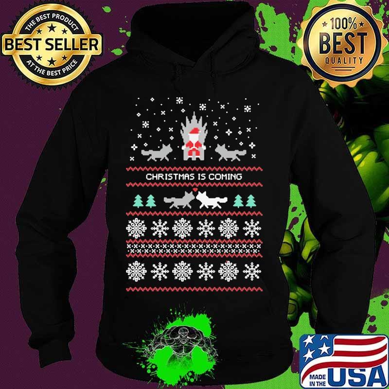 Christmas Is Coming Cats Santa Clause Merry Xmas Shirt Hoodie