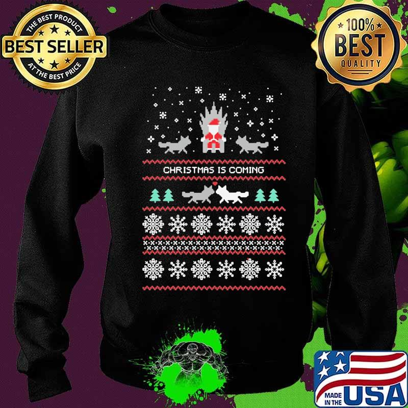 Christmas Is Coming Cats Santa Clause Merry Xmas Shirt Sweater