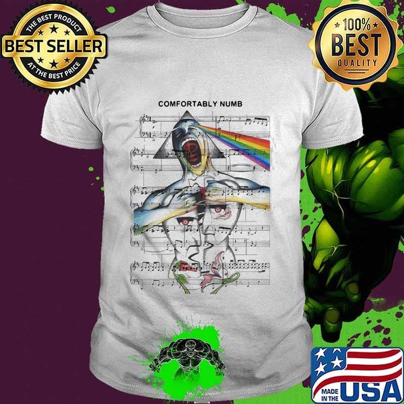 Comfortably Numb Moon Staves Lgbt Shirt