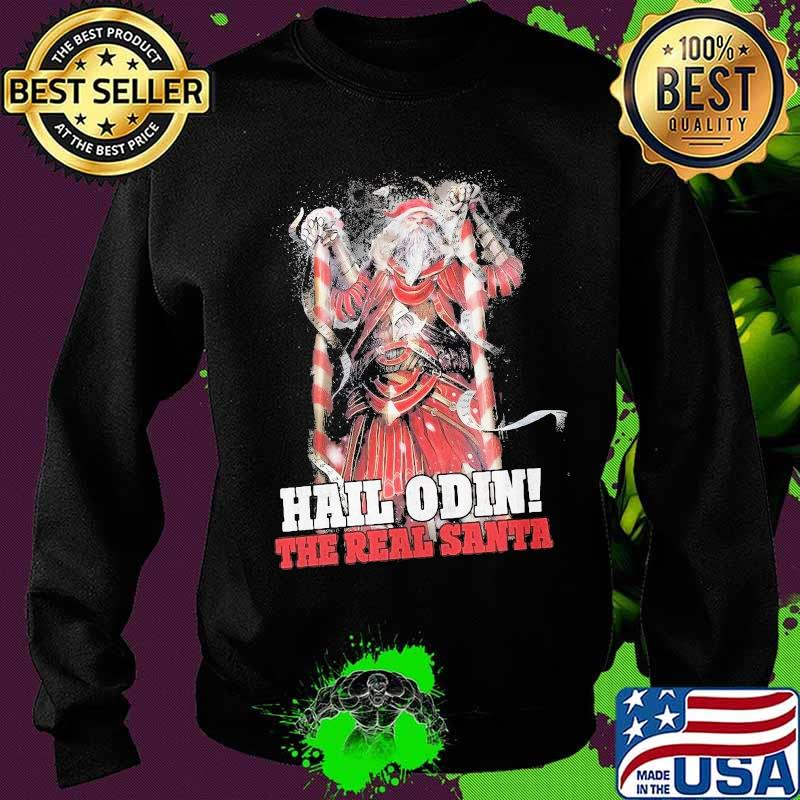 Hail Odin The Real Santa Merry Christmas Shirt Sweater