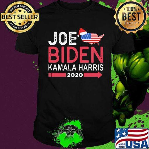 Joe Biden Kamala Harris Hat Santa American Flag 2020 Shirt