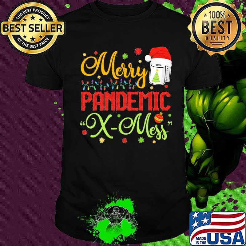 Merry Pandemic Xmas Hat Santa Clause Shirt