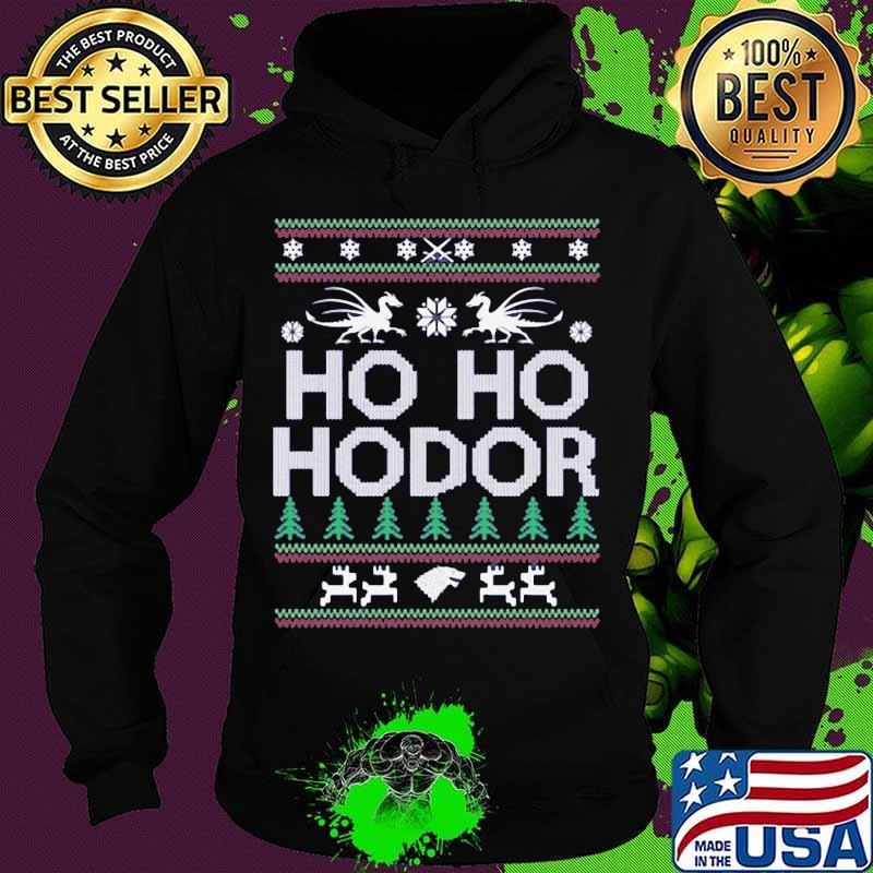 Official Ho Ho Hodor Toothless Merry Xmas Shirt Hoodie