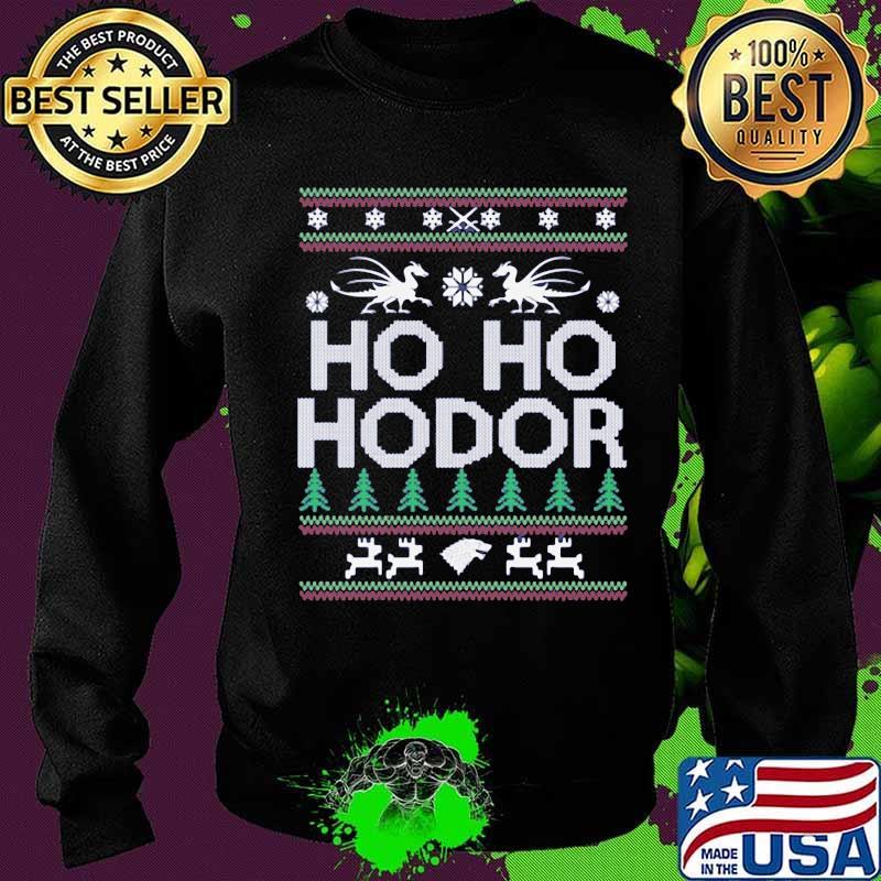 Official Ho Ho Hodor Toothless Merry Xmas Shirt Sweater