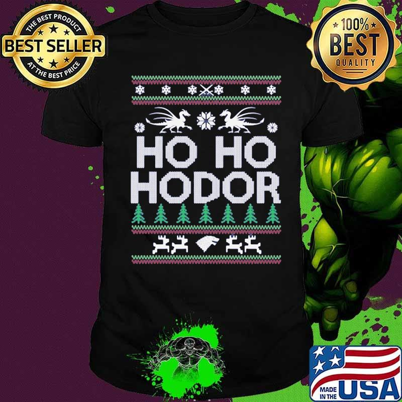 Official Ho Ho Hodor Toothless Merry Xmas Shirt