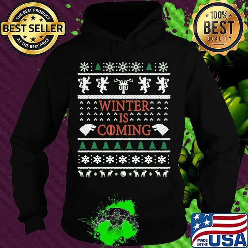 Official Winter Is Coming Merry Xmas Shirt Hoodie