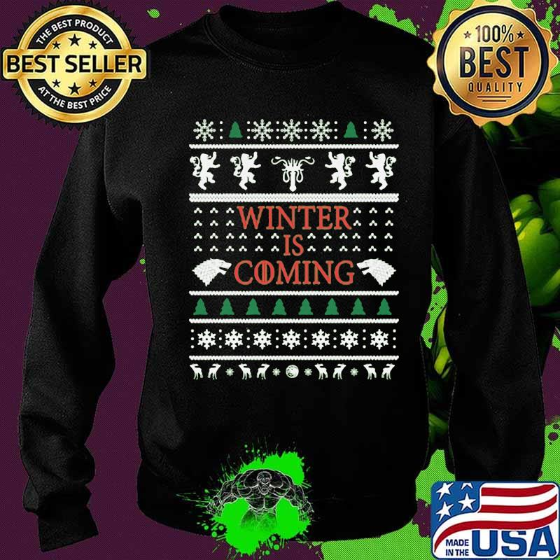 Official Winter Is Coming Merry Xmas Shirt Sweater
