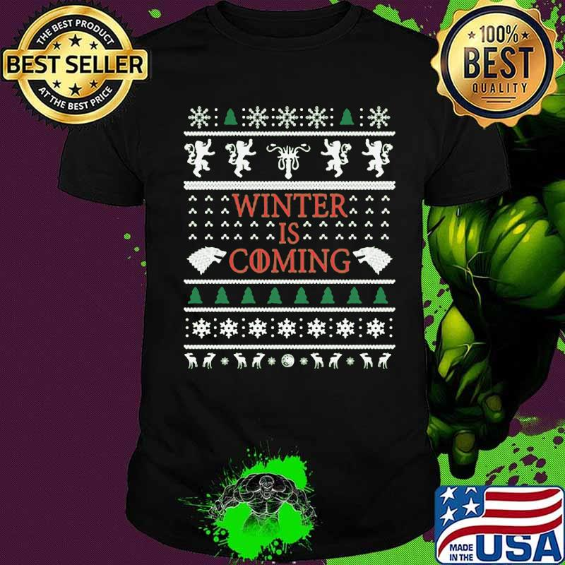 Official Winter Is Coming Merry Xmas Shirt
