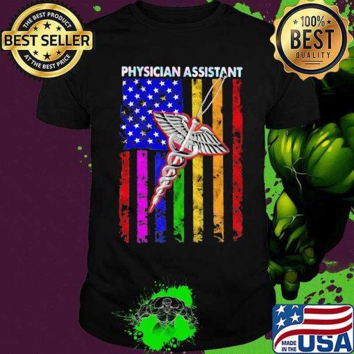 Physician Assistant Emt American Flag Hologram Colors Shirt