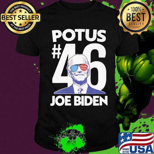 Potus 46 Joe Biden American Sunglasses Flag Election Shirt
