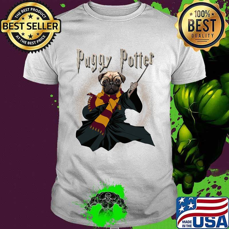 Puggy Potter Magic Wizard Pug Funny Puggy Pug Shirt