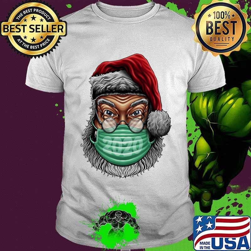 Santa Clause Wear Mask 2020 Covid 19 Merry Xmas Shirt